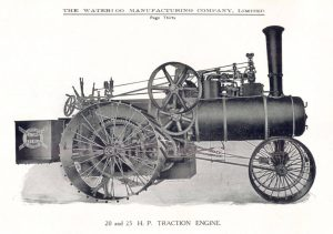 20 x 22 HP Traction Engine - Waterloo Manufacturing Company Limited 1910
